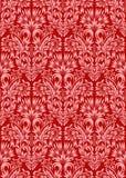 Burgundy floral άνευ ραφής σχέδιο διακοσμήσεων Στοκ Εικόνα