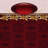 Burgundy frame Stock Images