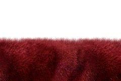 Burgundy fur background Stock Photos