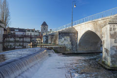 The Burgundy gate at Moret-sur-Loing Royalty Free Stock Photos