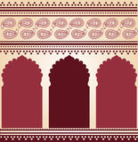 Burgundy Indian temple background Stock Image