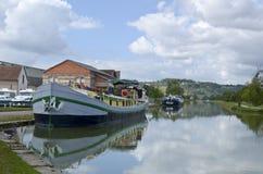 Burgundy kanal arkivfoton