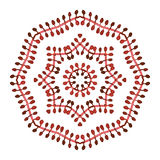 Burgundy leaves kaleidoscope vector ornament Royalty Free Stock Images