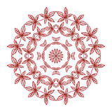 Burgundy leaves vector kaleidoscope vector ornament Stock Photography