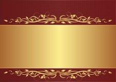 Burgundy och guldbakgrund Royaltyfri Foto