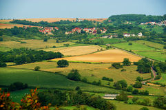 burgundy panorama- vezelay sikt fotografering för bildbyråer