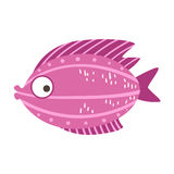 Burgundy And Pink Fantastic Colorful Aquarium Fish, Tropical Reef Aquatic Animal. Fantasy Underwater Marine Fauna Cartoon Sea Water Fish Isolated Vector Royalty Free Stock Photography