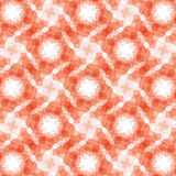 Burgundy red geometric fractal seamless pattern Stock Photography