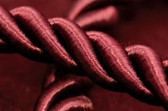 Burgundy Rope Royalty Free Stock Photos