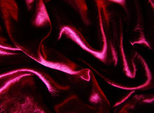 Burgundy Satin Folds Royalty Free Stock Image
