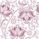 Burgundy seamless floral pattern Stock Image