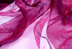 Burgundy Sheer Fabric Royalty Free Stock Image