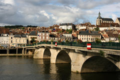 Burgundy town Stock Photo