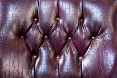 Burgundy upholstery leather pattern Stock Photo