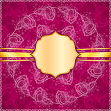 Burgundy vector flowers ornate background Royalty Free Stock Images