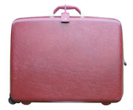 Burgundy vintage suitcase Stock Photography