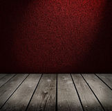 Burgundy wall and empty room Royalty Free Stock Image