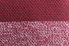 Burgundy wełna szydełkująca tekstura lub patern Zdjęcie Royalty Free