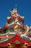 buri chon龙西安雕象寺庙泰国 库存照片