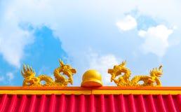 buri chon龙西安雕象寺庙泰国 图库摄影