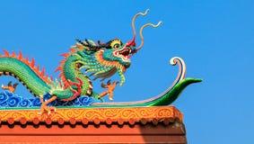 buri chon龙西安雕象寺庙泰国 库存图片