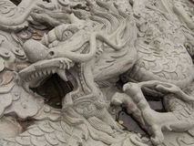 buri chon龙西安雕象寺庙泰国 免版税库存照片