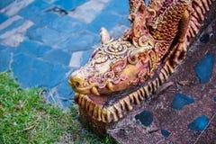 buri chon smoka Sian statuy świątynia Thailand Obraz Stock