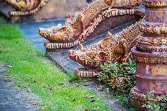 buri chon smoka Sian statuy świątynia Thailand obrazy royalty free