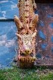 buri chon smoka Sian statuy świątynia Thailand Obraz Royalty Free