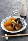 Buri Daikon, prato japonês popular no inverno fotografia de stock