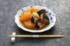 Buri Daikon, prato japonês popular no inverno imagens de stock