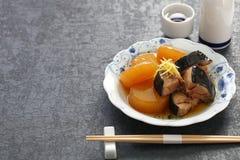Buri Daikon, prato japonês popular no inverno imagem de stock