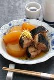 Buri Daikon, prato japonês popular no inverno fotografia de stock royalty free