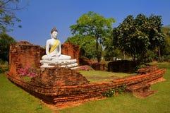 buri kao pho唱泰国wihan吨的wat 免版税库存照片