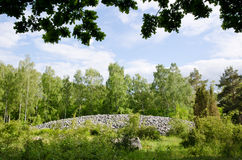 Burial cairn. From bronze age on the island Oland in Sweden Stock Photo