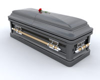 Burial Casket. 3D render of an ornate coffin Royalty Free Stock Images