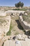 Burial Ground at Ancient Susya in the West Bank stock images