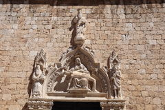 Burial of Christ, sculpture, Dubrovnik, Croatia. Royalty Free Stock Images