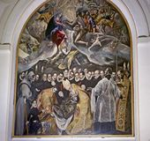 The Burial of the Count of Orgaz. Spanish: El Entierro del Conde de Orgaz is a painting by El Greco, a prominent Renaissance painter, sculptor, and architect of Royalty Free Stock Photo