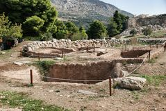Burial Grave in Mycenae Stock Image