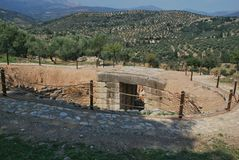 Burial Grave in Mycenae Royalty Free Stock Images