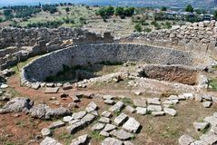 Burial Grave in Mycenae Royalty Free Stock Photo