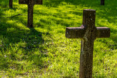 Burial Grounds of Abandoned Old Spanish Mission Stock Images