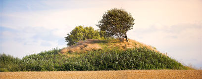 Burial mound in Denmark Royalty Free Stock Images