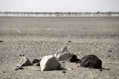 Burial Mound and Desert Mirage Royalty Free Stock Photos