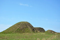 Burial mound Royalty Free Stock Image