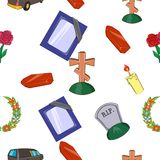 Burial pattern, cartoon style. Burial pattern. Cartoon illustration of burial vector pattern for web Stock Photos