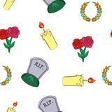 Burial pattern, cartoon style. Burial pattern. Cartoon illustration of burial vector pattern for web Royalty Free Stock Photography