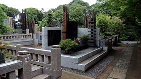 Burial place of the founder of Kyokushin Karate Mas Oyama. Tokyo. Japan. stock video