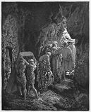 Burial of Sarah. Picture from The Holy Scriptures, Old and New Testaments books collection published in 1885, Stuttgart-Germany. Drawings by Gustave Dore Royalty Free Stock Image